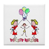 Yummy Mommies Girl Tile Coaster