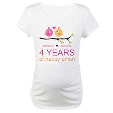 4th Year Anniversary Personalize Shirt