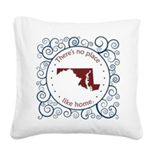 Maryland Square Canvas Pillow