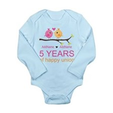 5th Anniversary Person Long Sleeve Infant Bodysuit
