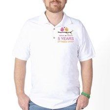 5th Anniversary Personalized T-Shirt