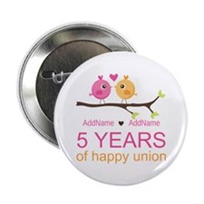 "5th Anniversary Personalize 2.25"" Button (10 pack)"
