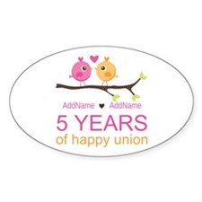5th Anniversary Personalized Decal