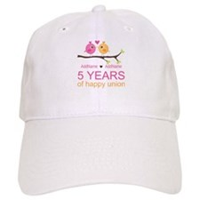5th Anniversary Personalized Baseball Cap