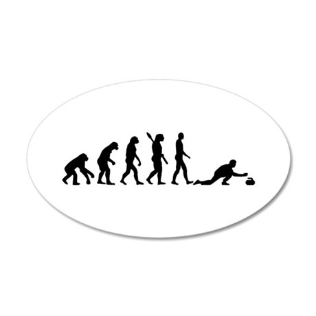 Curling evolution 20x12 Oval Wall Decal