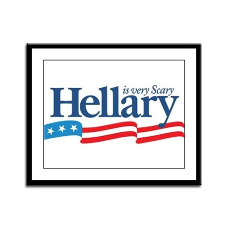HELLARY anti Hillary Clinton Framed Panel Print