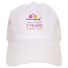 7th Anniversary Personalized Baseball Cap