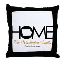 Iowa Home Throw Pillow