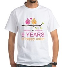 9th Wedding Anniversary Personalized Shirt