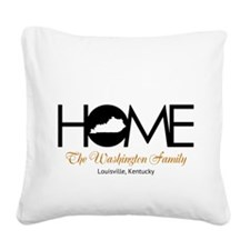 Kentucky Home Square Canvas Pillow