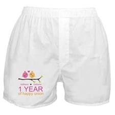1st Anniversary Personalized Boxer Shorts