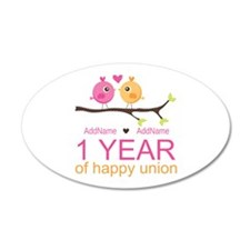 1st Anniversary Personalized Wall Decal