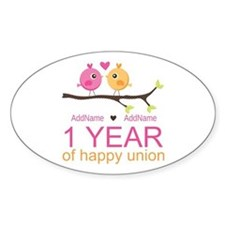 1st Anniversary Personalized Decal