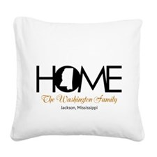 Mississippi Home Square Canvas Pillow