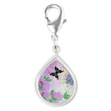 New Guinea Delight Silver Teardrop Charm