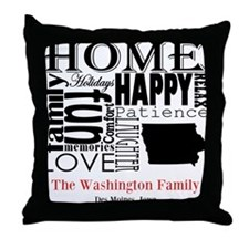Iowa Text Throw Pillow