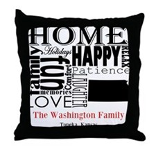 Kansas Text Throw Pillow