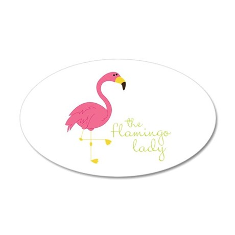 The Flamingo Lady Wall Decal
