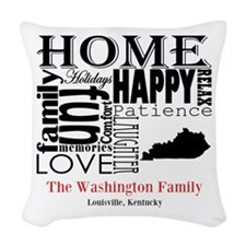 Kentucky Text Woven Throw Pillow