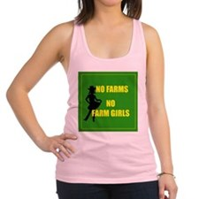 NO farms no farm girls funny woman Racerback Tank