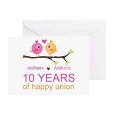 10th Anniversary Personalized Greeting Card