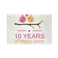 10th Anniversary Personalized Rectangle Magnet