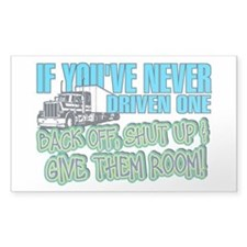 Trucker Back Off Decal