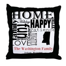 Mississippi Text Throw Pillow