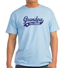 Grandpa Since 2015 T-Shirt