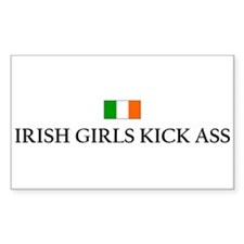 Irish Girls Rectangular Decal
