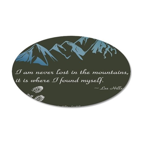 Never Lost in Mountains Wall Decal