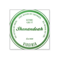 "Cute Shenandoah Square Sticker 3"" x 3"""