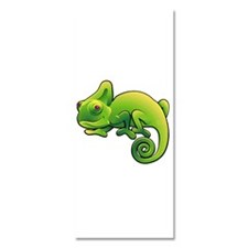 Green Chameleon with Purple Eyes Invitations
