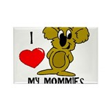 I love my Mommies Koala Rectangle Magnet
