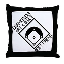 Diamonds girls best friend Throw Pillow
