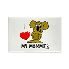 I love my Mommies Koala Rectangle Magnet (10 pack)