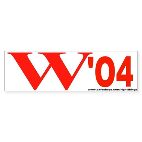W '04 Bumper Sticker