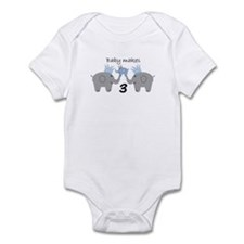 Baby Makes 3 Onesie Infant Body Suit