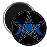 Pentacle Triple Moon Magnet - Celestial