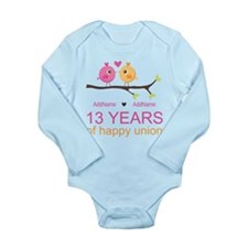 13th Anniversary Perso Long Sleeve Infant Bodysuit