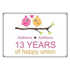 13th Anniversary Personalized Banner