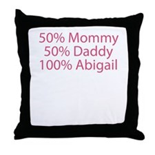 Cute Baby names Throw Pillow