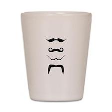 Mustaches Shot Glass