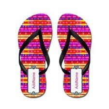Faux Fabric Textile Personalized Flip Flops