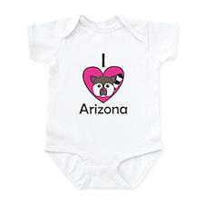 I Love Arizona Infant Bodysuit