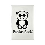 Pandas Rock Rectangle Magnet (10 pack)