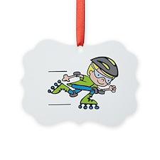 Rollerblading Boy Ornament
