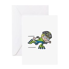 Rollerblading Boy Greeting Cards
