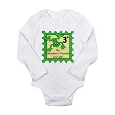frog stamp grandma grandpa Body Suit