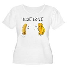 True love macaroni and cheese Plus Size T-Shirt